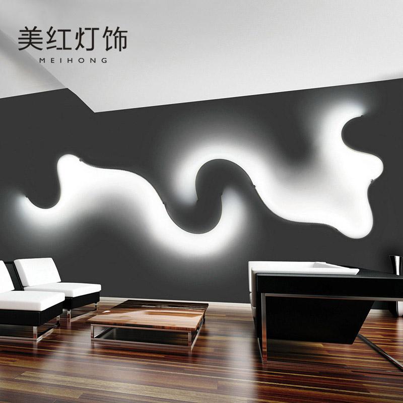 后现代简约创意壁灯led卧室床头装饰北欧设计师客厅走廊过道灯具