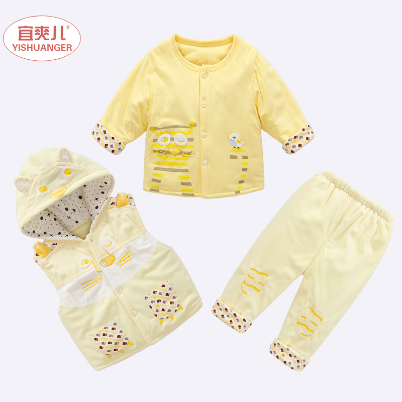 2016新品秋款上市嬰兒棉衣新生兒 裝套裝男女寶寶衣服棉襖棉服