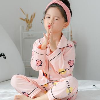 儿童纯棉长袖春秋男孩宝宝套装睡衣