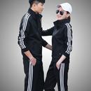 男女情侣装 卫衣跑步休闲运动服套装 新款 运动套装 男春秋季 外套衣服