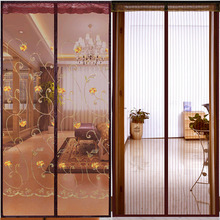 Household Curtain, Velcro partition curtain, high-grade magnetic mosquito proof soft curtain, customized partition curtain, non perforated in bedroom