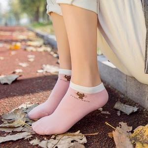 5双船袜女袜子隐形袜纯棉浅口可爱学生低帮防臭吸汗运动薄款夏季