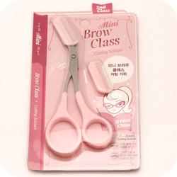 韩国修眉剪刀带眉梳 小梳子化妆剪修眉刀 新手使用修眉工具包邮