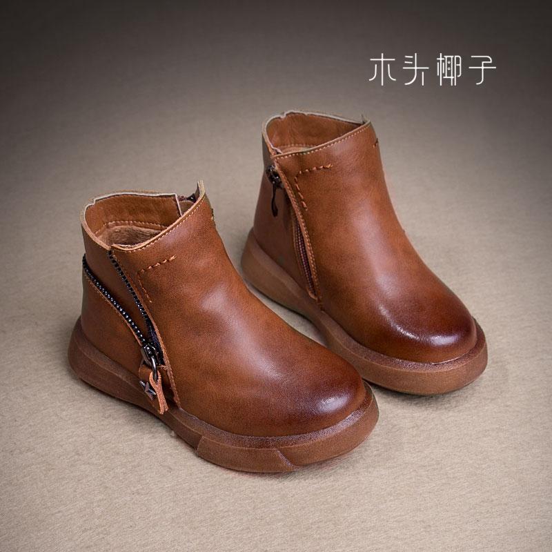 新款童鞋2017秋冬季二棉马丁靴 男女童高帮休闲鞋 韩版中大童潮靴