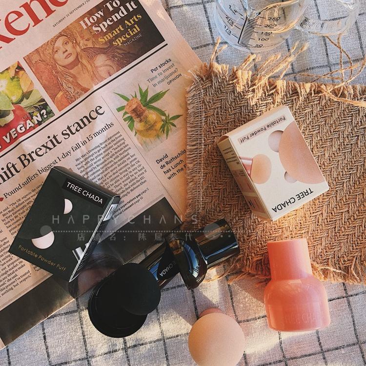 泰国正品TREECHADA小蘑菇粉扑气垫粉饼干湿化妆海绵美妆蛋随身装图片