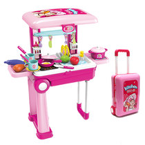 New Kids Home toy simulation Trolley Box Kitchen makeup doctor tool role Playing Girl gift