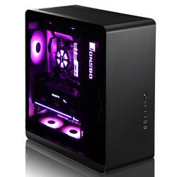乔思伯 UMX4 PLUS台式机ATX电脑主机箱大机箱双面玻璃侧透RGB变色