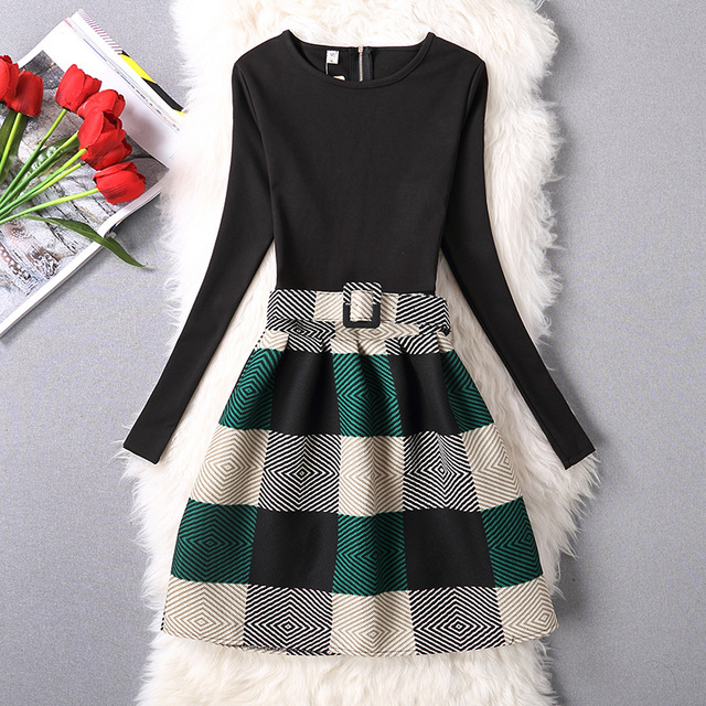Autumn long sleeve party dresses women winter dinner clothes
