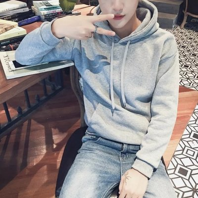 Cheap 9.9 mens slim fitting clothes lovers Korean loose BF autumn coat student Hoodie trend