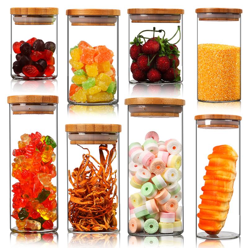 帶蓋茶葉罐玻璃密封罐瓶子廚房儲物罐五穀雜糧奶粉食品收納儲藏罐