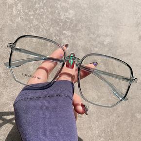 超轻TR近视眼镜女可配有度数大方框圆脸男韩版潮素颜网红款眼睛架