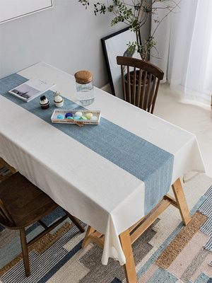 Japanese tablecloth fabric cotton and linen waterproof table mat Nordic ins modern minimalist tea table coffee table living room table cloth