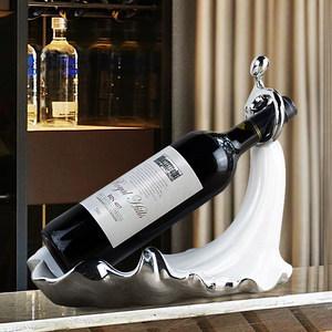 【圆舞曲】酒柜装饰品摆件现代简约欧式家居客厅台面餐桌红酒架