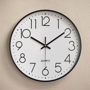现代简约挂钟家用客厅静音挂表时尚 老人立体壁钟大字钟表石英时钟