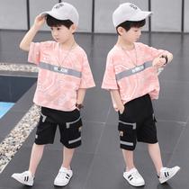 童装男童夏装套装2021新款儿童洋气男孩夏季帅气韩版短袖两件套潮