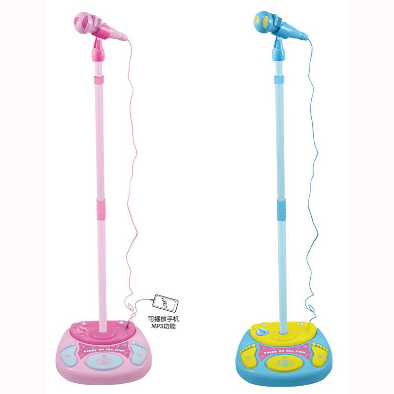 儿童小孩仿真麦克风音乐带扩音话筒宝宝唱歌变声话筒玩具