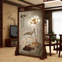 真尚美 中式实木屏风隔断客厅装饰卧室遮挡家用挡煞胡桃镂空 座屏