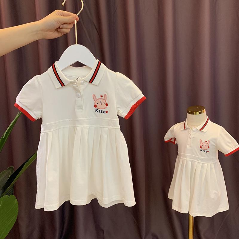 纯棉婴儿女宝宝连衣裙女童夏装裙子限5000张券