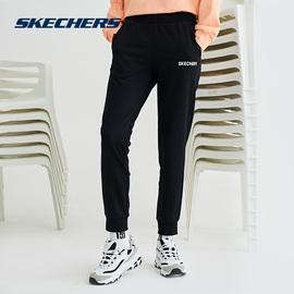 Skechers斯凯奇女子秋季运动裤新款宽松休闲针织直筒裤子运动长裤