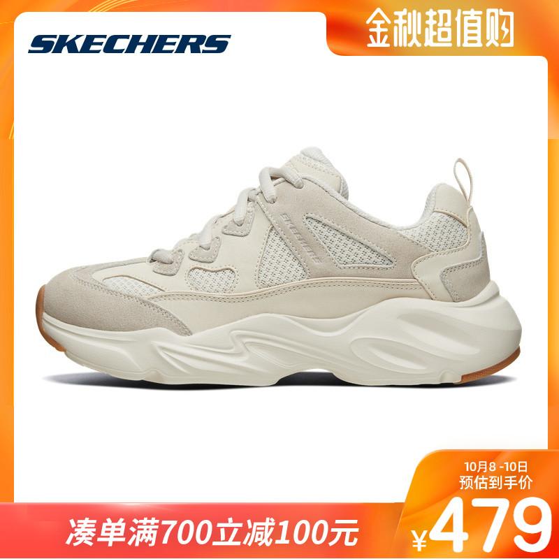 限6000张券skechers男女同款厚底熊猫鞋休闲鞋