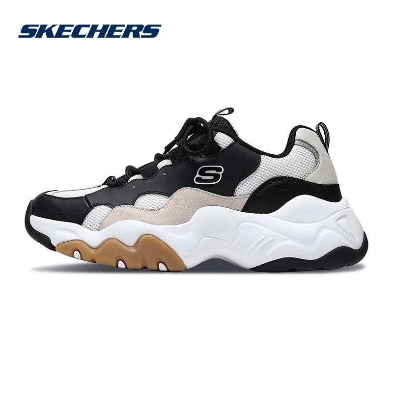 Skechers斯凯奇男鞋新款D'lites熊猫鞋 黄子韬同款休闲鞋 999880
