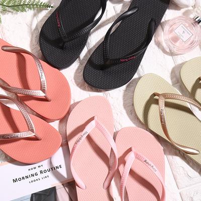 人字拖女夏情侣韩版时尚外穿拖鞋男士夹脚防滑平底平跟沙滩凉拖鞋