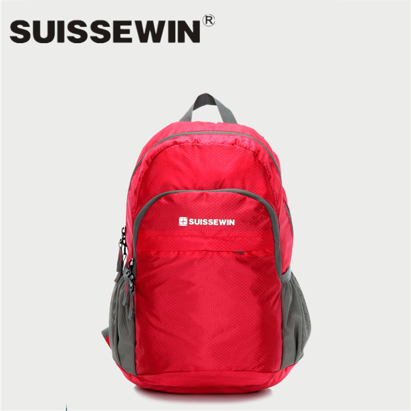 Swiss sussewin backpack with foldable two skin bags for men and women