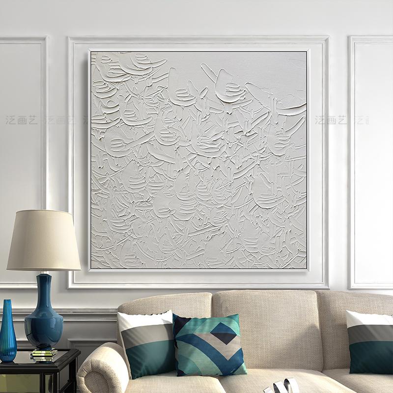 手绘抽象油画美式轻奢背景墙壁画