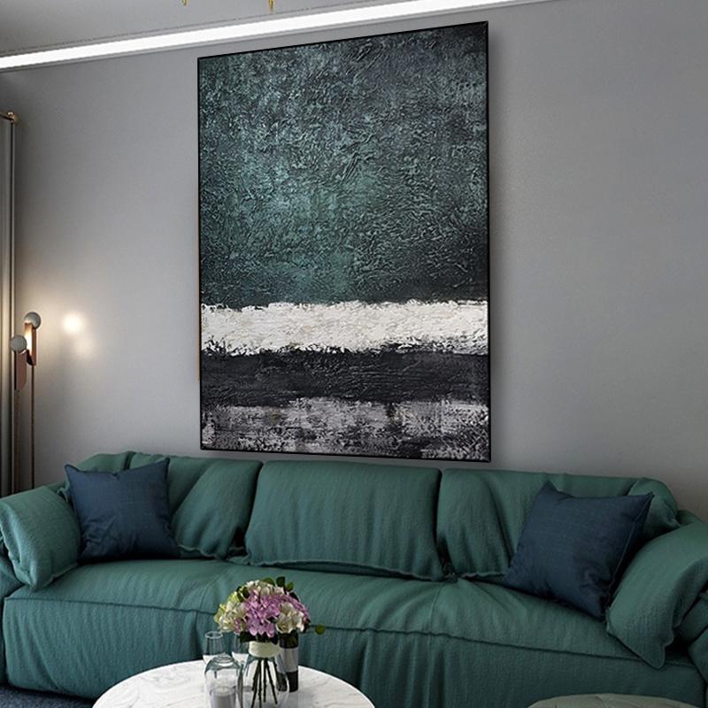 現代簡約客廳沙發背景墻裝飾畫立體抽象大幅玄關走廊掛畫手繪油畫