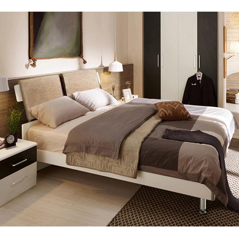 Современный простой двуспальная кровать 15 метр 18 пластина господь спальня сочетание мебель жесткий доска хранение высокий ящик экономического типа специальное предложение