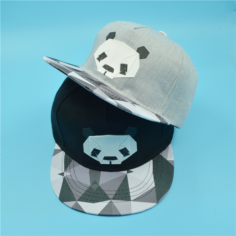 帽子春秋女嘻哈帽子男百搭2017街头可爱潮韩版时尚熊猫女士鸭舌帽