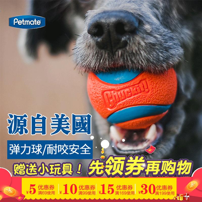 Petmate美国狗玩具球宠物弹力橡胶球边牧训练用品球耐咬浮水发声
