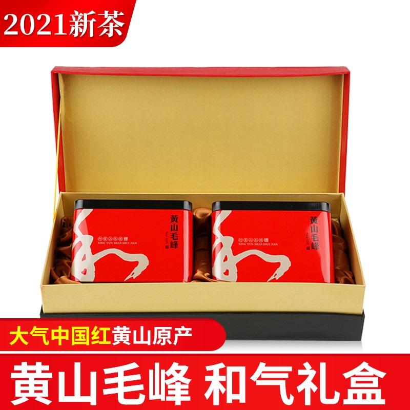 徽轩高山软包礼盒明前特级黄山毛峰2021新茶手工绿茶毛尖嫩芽茶叶