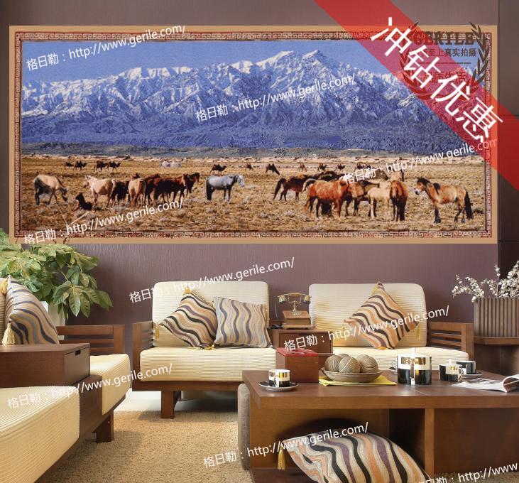 新款正品细羊毛加密加厚客厅书房视听室吸音隔音挂毯壁毯多款尺寸