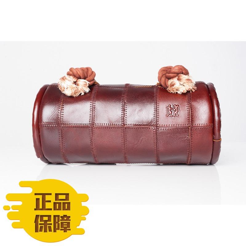 ヒッピー専?棚正品ヒッピーレザーの本革のハンドバッグ斜にかける女性用バッグ8349
