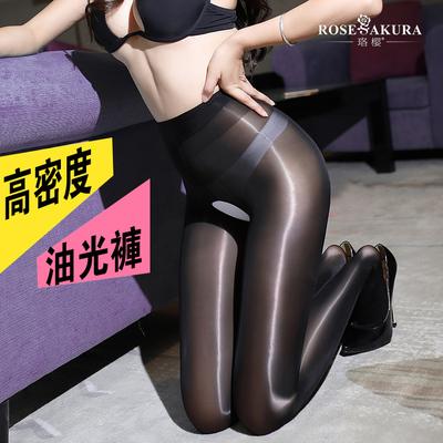 珞樱油亮 8D油光神裤性感开裆马油袜丝袜连裤袜黑丝情趣美腿袜女