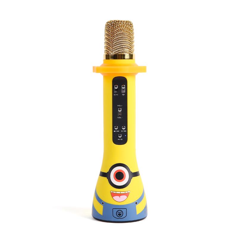 hifier/屁顛蟲 MC-300兒童話筒智能麥克風學習機早教機故事機玩具手機全民K歌神器無線藍牙唱歌帶音響家庭KTV