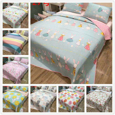 Foreign trade South Korea pure cotton dense road washing quilted bed cover mattress summer cool air-conditioning quilt bedding can be equipped with a three-piece suit