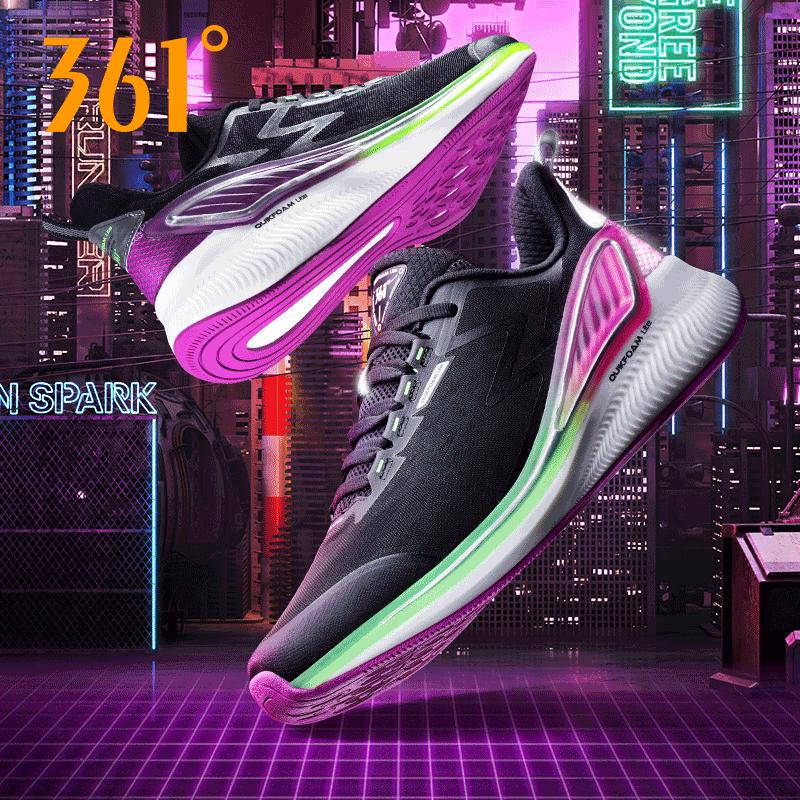 361度运动鞋男鞋2021春季新款减震轻便软底跑步鞋防滑鞋572032218