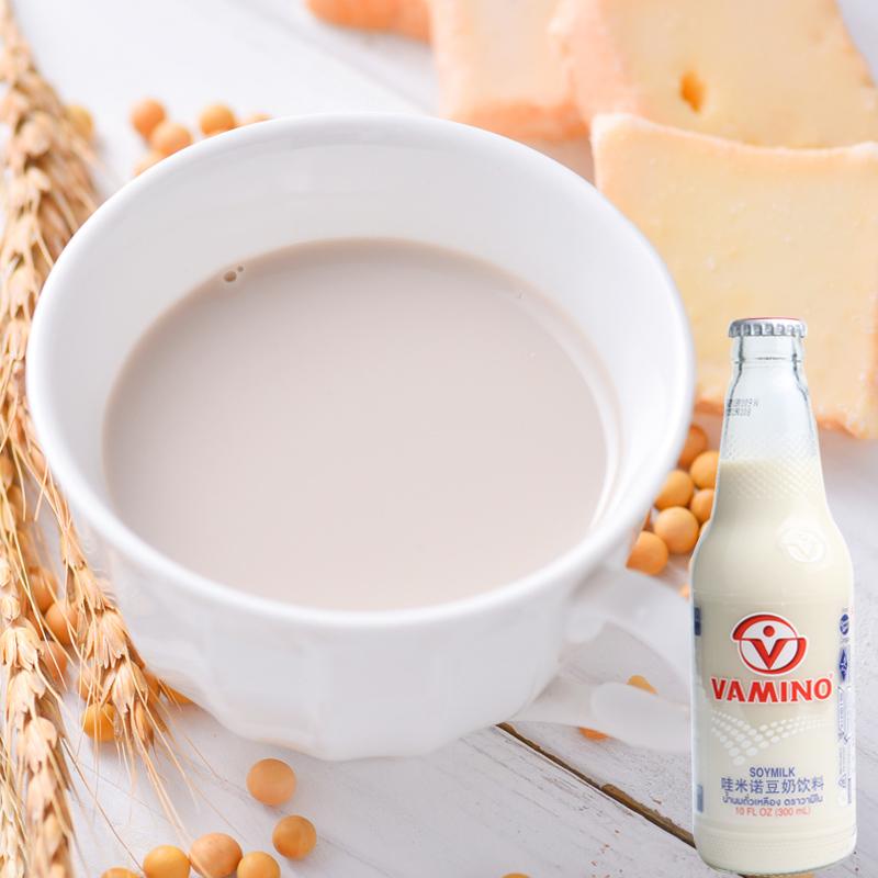 泰国进口豆奶Vamino哇米诺 原味豆奶维他奶营养早餐奶300ml饮料