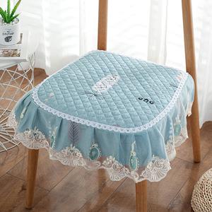 坐墊家用餐椅墊子椅子屁股墊四季通用歐式餐桌防滑板凳子套罩座墊