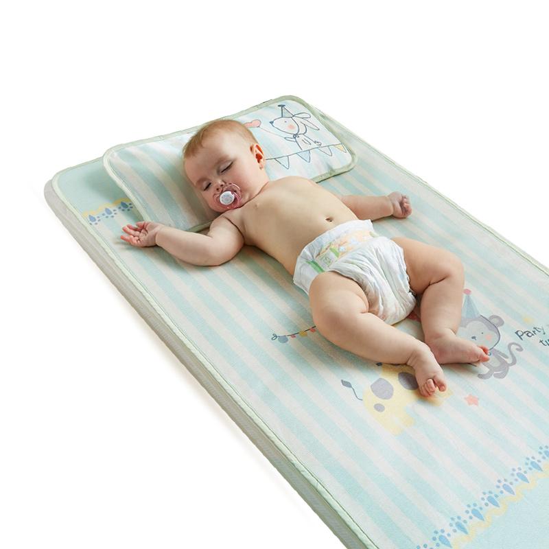 蒂爱婴儿凉席冰丝新生儿宝宝凉席夏季儿童凉席婴儿床凉席幼儿园