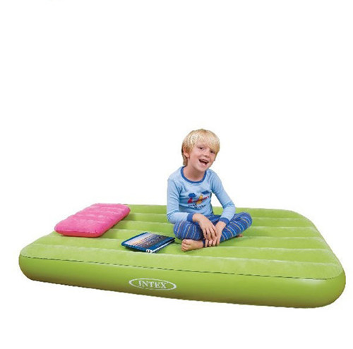 intex儿童充气床 彩色充气床垫 气垫床加厚 空气床送电动充气泵,可领取20元天猫优惠券