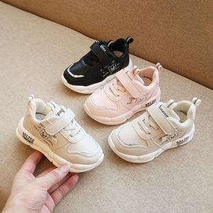 宝宝运动鞋1-3岁男女小童透气学步鞋婴儿2019秋冬季新款软底防滑2图片