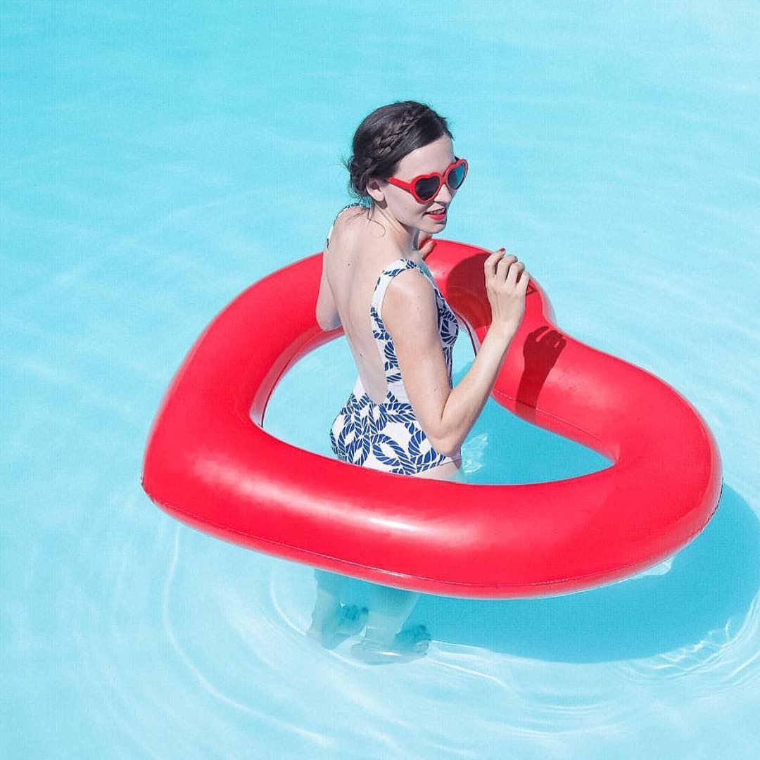 120cm газированный любовь плавать круг сердце спасательный круг волдырь водный спасательный круг спасательный круг пончик плавающий
