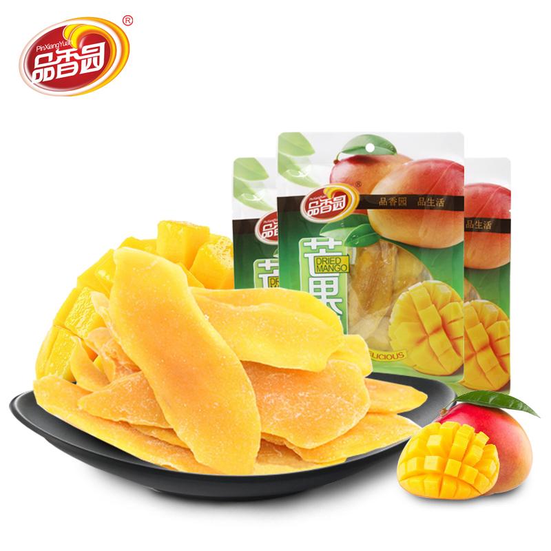 海南特產品香園芒果幹156gX3袋裝蜜餞水果幹果脯果片辦公室零食