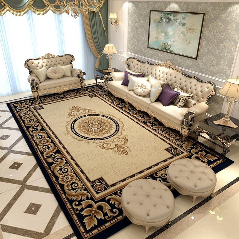 正品欧式美式地毯简约古典新中式客厅茶几卧室床边地垫大面积满铺