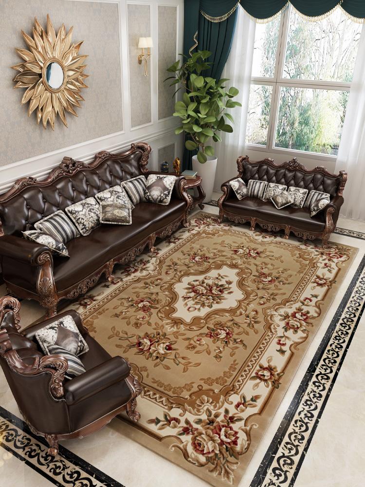 高端欧式美式地毯中式客厅茶几卧室书房床边新古典大面积家用地垫