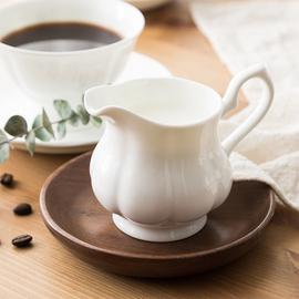 英式奶缸咖啡配套器具陶瓷奶罐加奶杯奶壶骨瓷欧式家用奶盅小奶杯图片