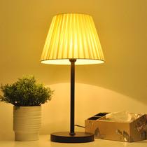 日式台灯卧室床头家用可调光插电遥控床头灯暖光护眼温馨实木台灯